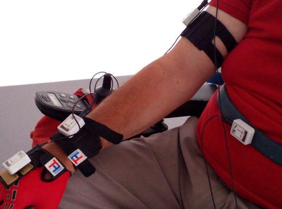 Accesorios motion capture system en brazo y estómago