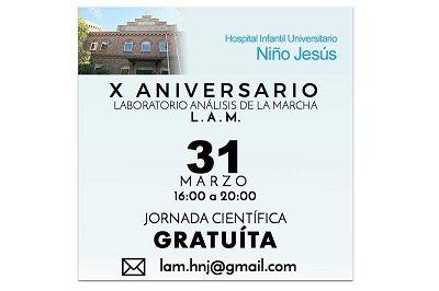 X Aniversario del Laboratorio de Análisis de la Marcha del Hospital Niño Jesús (Madrid)